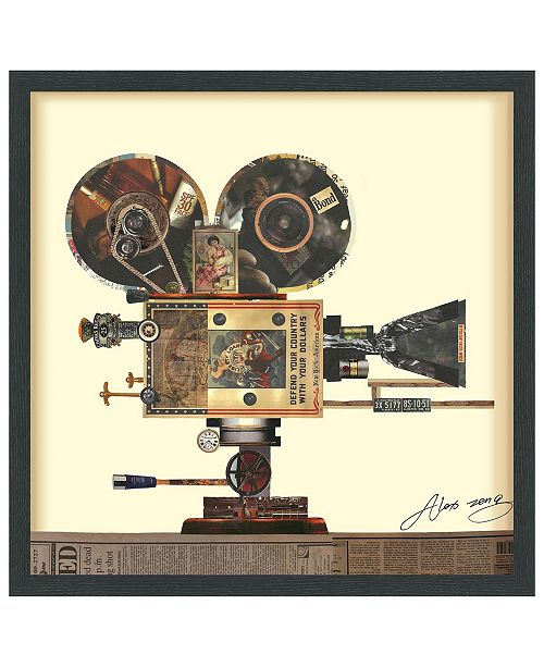 "Empire Art Direct 'Antique Film Projector' Dimensional Collage Wall Art - 25"" x 25''"