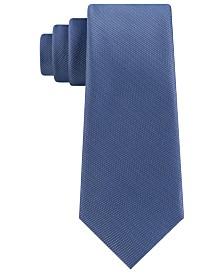 DKNY Men's Slim Textured Twill Silk Tie