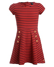 Tommy Hilfiger Baby Girls Striped Piqué Dress