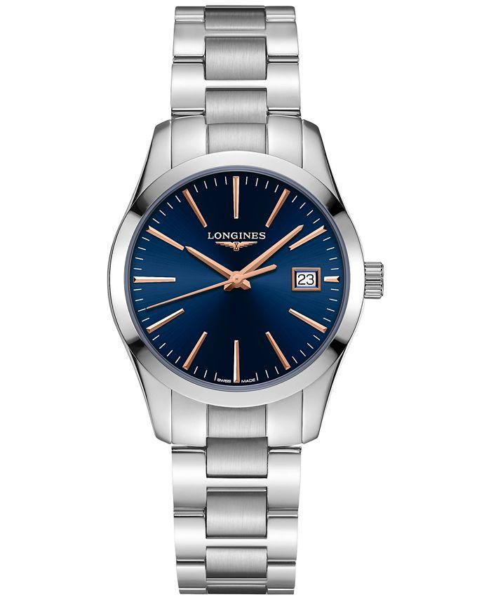 Longines - Women's Swiss Conquest Classic Stainless Steel Bracelet Watch 29.5mm