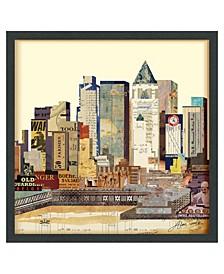 'New York City Skyline' Dimensional Collage Wall Art - 25'' x 25''
