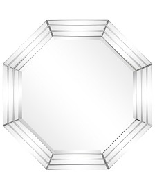 "Empire Art Direct Solid Wood Frame Covered with Beveled Multi Faceted Octagons Mirror - 32"" x 32"""