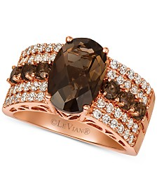 Le Vian® Chocolate Quartz (3-3/4 ct. t.w.) & Nude Diamond (5/8 ct. t.w.) Ring in 14k Rose Gold