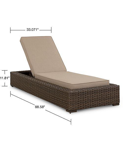 Camden Wicker Outdoor Chaise Lounge