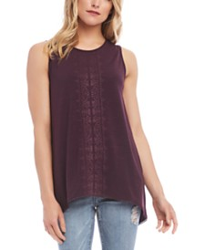 Karen Kane Embroidered Tunic Tank