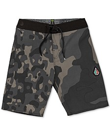 Big Boys Camo-Print Swim Trunks