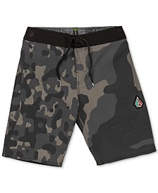 Volcom Big Boys Camo-Print Swim Trunks