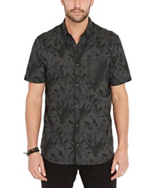 Buffalo David Bitton Men's Leaf Print Shirt