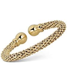 Popcorn Cuff Bracelet in 18k Gold