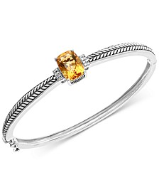 EFFY® Citrine (3-1/2 ct. t.w.) & Diamond Accent Bangle Bracelet in Sterling Silver