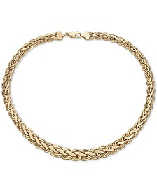 "Woven Braid 18"" Statement Necklace in 14k Gold"