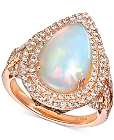 Neopolitan Opal (2-7/8 ct. t.w.) & Diamond (1 ct. t.w.) Ring in 14k Rose Gold