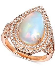 Le Vian® Neopolitan Opal (2-7/8 ct. t.w.) & Diamond (1 ct. t.w.) Ring in 14k Rose Gold