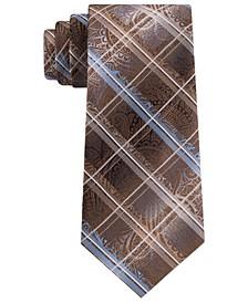 Men's Sebastian Grid Paisley Tie