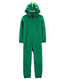 Carter's Little & Big Boys 1-Pc. Dinosaur Fleece Pajama