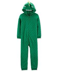 Carter's Little & Big Boys 1-Pc. Dinosaur Fleece Pajama