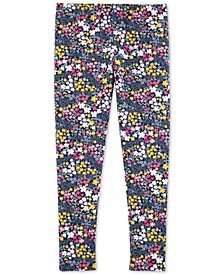 Little & Big Girls Floral-Print Leggings