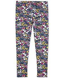 Little & Big Girls Floral-Print Leggings