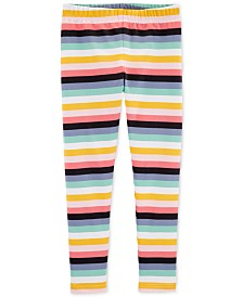 Carter's Little & Big Girls Striped Leggings