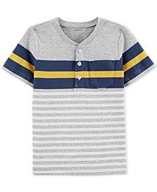 Carter's Baby Boys Henley-Neck Striped Cotton T-Shirt