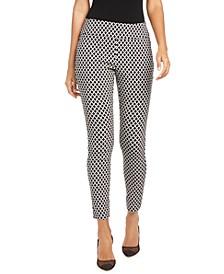 INC Diamond Jacquard Skinny Pants, Created for Macy's