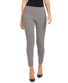 I.N.C. Diamond Jacquard Skinny Pants, Created for Macy's