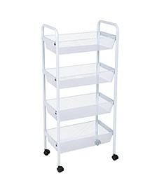 Simplify Deluxe 4 Tier Rolling Storage Cart