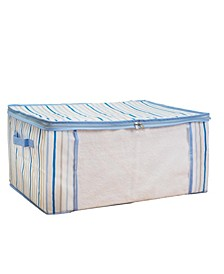 Kids Blanket Bag in Painterly Blue Stripe