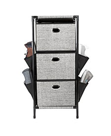 3 Tier Storage Drawers with Side Pockets