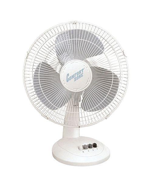 "Comfort Zone Cz161 16"" Oscillating Table Fan"