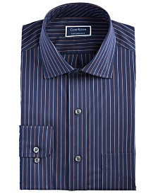 Club Room Men's Classic/Regular-Fit Performance Stretch Wrinkle-Resistant Pinstripe Dress Shirt, Created for Macy's