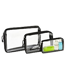 G- Force 3 Piece Clear Travel Set