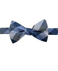 Ryan Seacrest Distinction™ Men's Weho Check Pre-Tied Silk Bow Tie, Created for Macy's