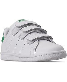 adidas Toddler Boys' Originals Stan Smith Stay-Put Closure Casual Sneakers from Finish Line