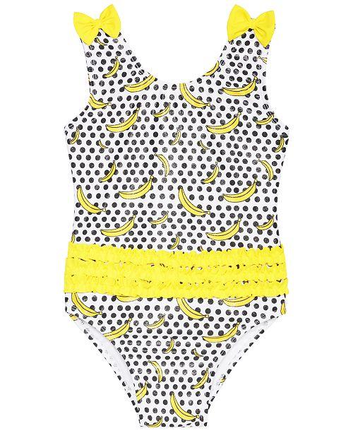 Sol Swimwear Little Girls 1-Pc. Going Bananas Swimsuit
