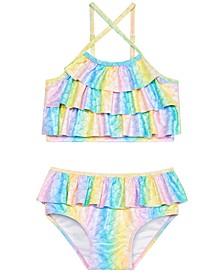 Little Girls 2-Pc. Mermaid Glamour Tankini
