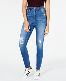 Curvy High Rise Destructed Skinny Jean