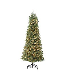 International 7.5 ft. Pre-Lit Slim Madison Artificial Christmas Tree with 800 Incandescent Lights
