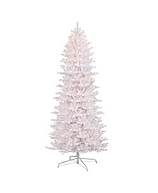 International 9 ft. Pre-Lit White Slim Fraser Fir Artificial Christmas Tree with 800 UL-Listed Lights