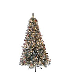 International 7.5 ft. Pre-Lit Sterling Pine Artificial Christmas Tree with 70 UL-Listed Clear Lights