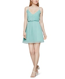 BCBGeneration Pleated Tulle Fit & Flare Dress