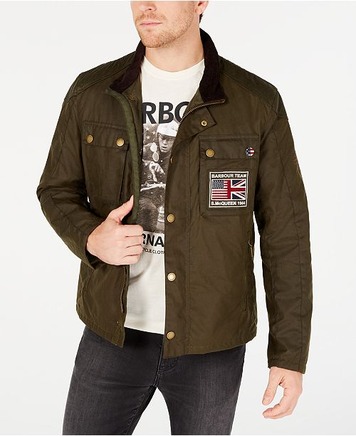 Barbour International Steve McQueen  Men's Ashbury Wax Jacket, Created For Macy's
