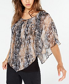 Juniors' Snake Print Blouse