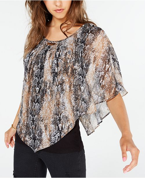 BCX Juniors' Snake Print Blouse