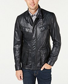 International Steve McQueen  Men's Sendle Leather Jacket, Created For Macy's