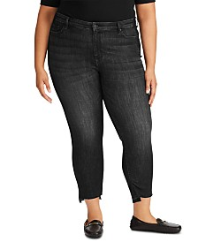 Lauren Ralph Lauren Plus Size Regal Straight Ankle Jeans
