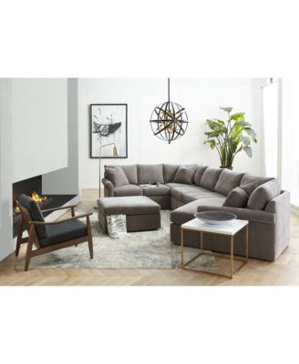 Wedport 4-Pc. Fabric Modular Chaise Sleeper Sectional Sofa with Wedge Corner Piece, Created for Macy's
