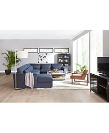 SHOP THE LOOK: The Canillo Fabric Sectional Sofa & Coordinating Accents