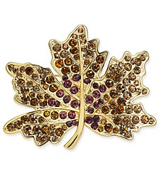 Gold-Tone Crystal Maple Leaf Pin, Created for Macy's