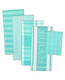 Assorted Foodie Dishtowel and Dishcloth, Set of 5
